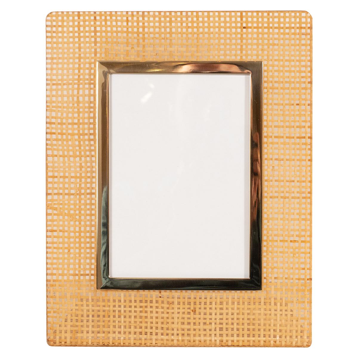Lucite and rattan picture frame | Picture Frames | John Salibello